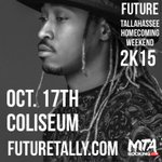Just Announced! @1future Live in Concert! #FAMUHC2k15 SAT Oct 17 at @Coliseum! Tickets & Info: http://t.co/1f3HZGhkD8 http://t.co/pHbQ9ovICC