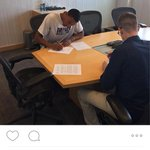 Josh Huestis signing his Thunder contract http://t.co/PSSOZ8ncco