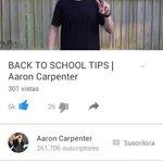 Go watch @AaronCarpenter s new video!! #AaronsNewVideo -> https://t.co/tqx2Yf2ufB <-  Liked ✔ X http://t.co/oc7IFQQDei 172