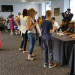 Competition winners enter the 1871 Suite for a signing session with the players #MyTownMyClub http://t.co/EIJdfQ4S6X