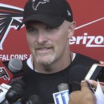 """Head coach @FalconsDQ on the first day of camp: """"The energy is contagious."""" WATCH: http://t.co/Dx3ewrUsYm #RiseUp http://t.co/cnji9i82qj"""