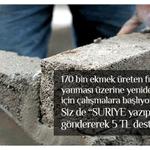 """Günde 170 bin ekmek üreten fırınımızı #YenidenİnşaEdiyoruz. """"SURIYE"""" yazıp 3072ye göndererek destek olabilirsiniz. http://t.co/i044iNAawg"""