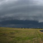Image of a severe thunderstorm this evening pushing into Corpus Christi. Picture taken at our office. #txwx #stxwx http://t.co/nloCFjN4s7