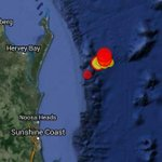 There have been 4 tremours off Qlds Fraser Island today: 2.8 5.7 5.1 3.1 @abcnews #earthquake http://t.co/17AShWMu7D