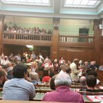 Jeremy Corbyn kicks off the meeting in the overflow chamber. We have now packed 3 rooms and have an outside meeting http://t.co/06G1T5IixN