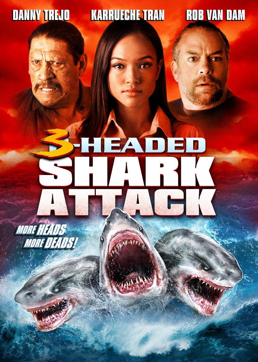 On DVD/on demand 8/4: 3-HEADED SHARK ATTACK! More heads, more deads, more @karrueche, @officialDannyT, & @TherealRVD! http://t.co/BrXyruvhpO