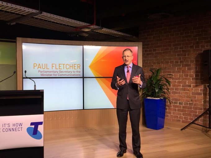 Speaking at the opening of the @Telstra #Gurrowa Innovation Lab #commsau http://t.co/5UitkbZ4pz