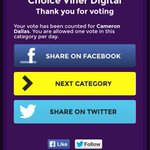 @camerondallas voted from my Facebook and my moms ???? #ChoiceViner #ChoiceMaleWebstar http://t.co/vFrJgzwCQM