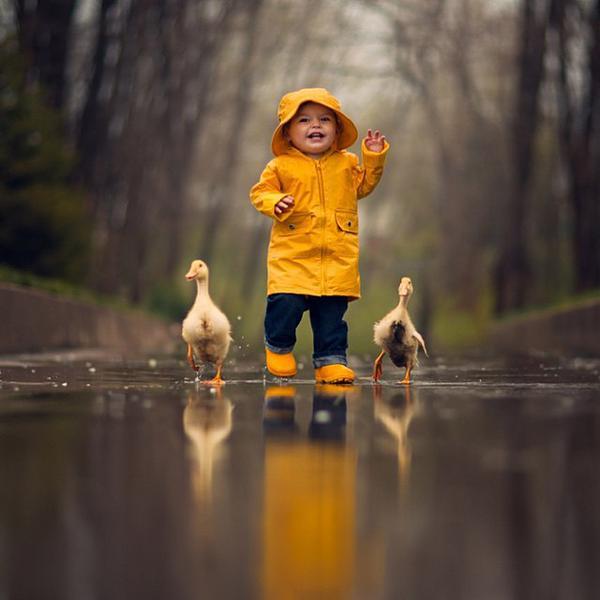 """ذكرني الطفل وبطتاه بحديث:""""المؤمن يألف ويؤلف"""" لا يُخاف منه غُدرة ولا فجور .. هيّن قريب.. حتى أهل الحذر مع المؤمن آمنون http://t.co/r245eGOZiO"""