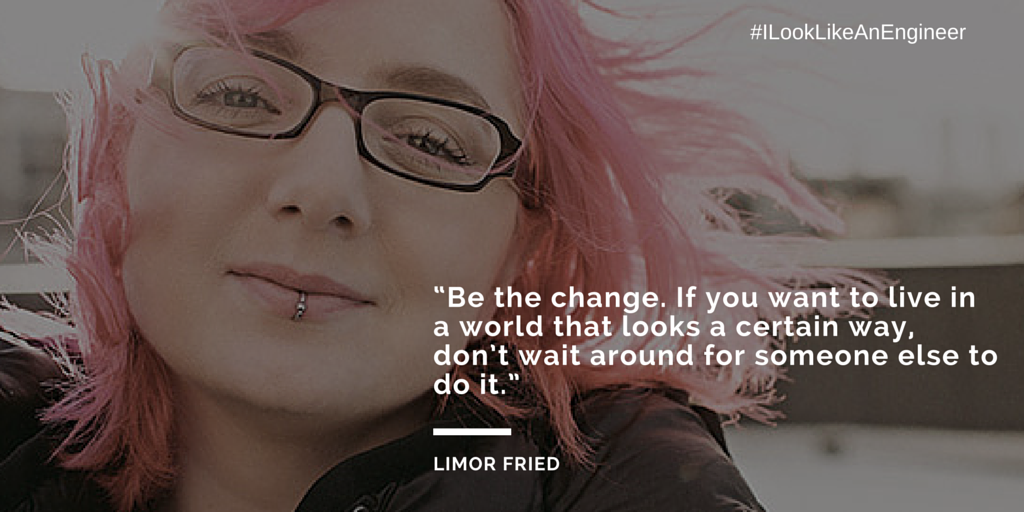 Limor Fried - An influential #WomenInTech from @embedded_comp (2014) http://t.co/YMGy36LSh7    #ILookLikeAnEngineer http://t.co/GAAmTqR7Io