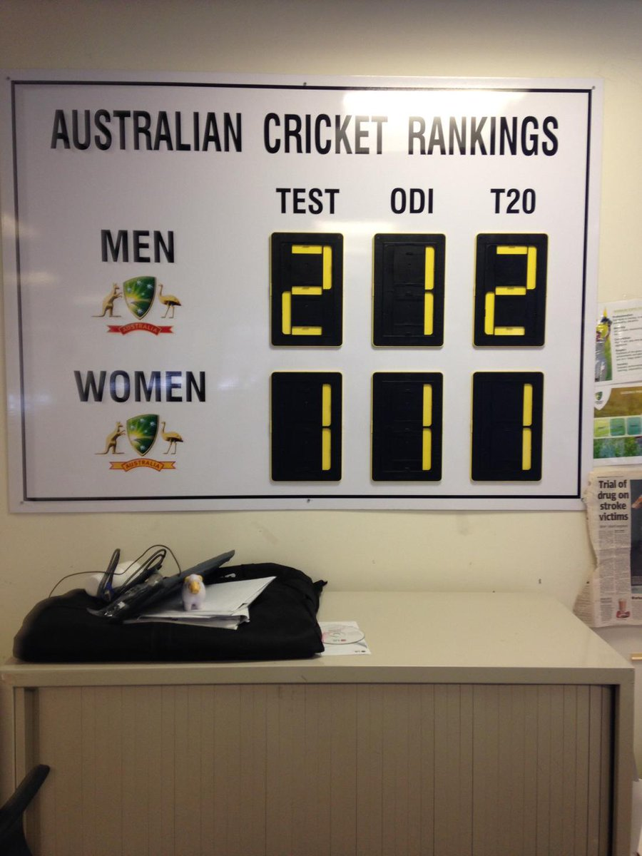 Interesting sign from inside the Cricket Aust head office building at Jolimont http://t.co/DthaZYXD8g