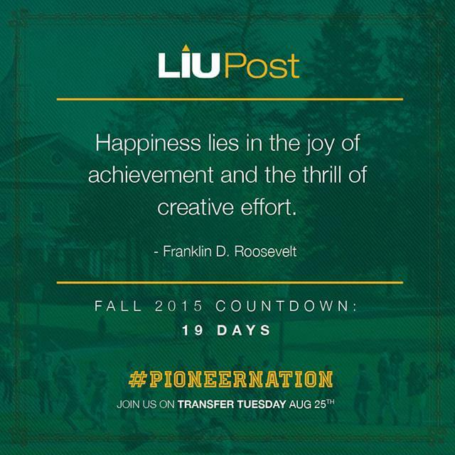 19 days! #liupost #classof2019 #pioneernation #weareliupost #greenandgold #liupostpride #firstdayofschool #wecantwa… http://t.co/IX7HLxeF9S