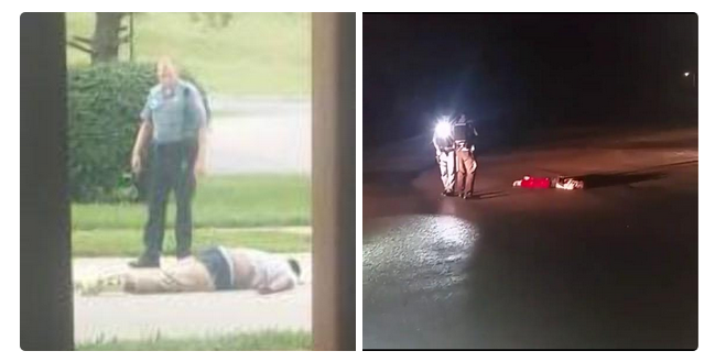 8/9/14 and 8/9/15 in #Ferguson. Devastating. http://t.co/U2tLcg5Z3q