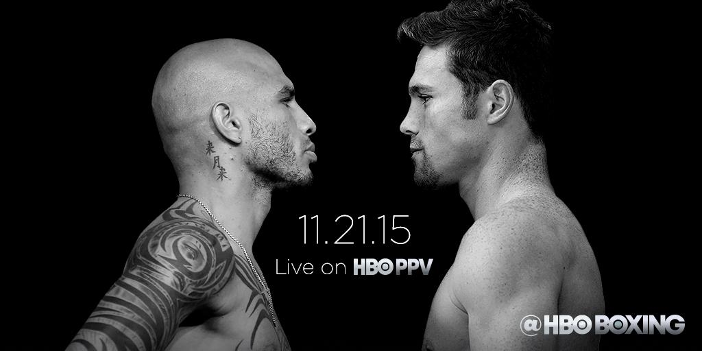 The showdown is officially set.  #CottoCanelo Saturday, November 21 live on @HBO​ Pay-Per-View http://t.co/XH17W29Pwc