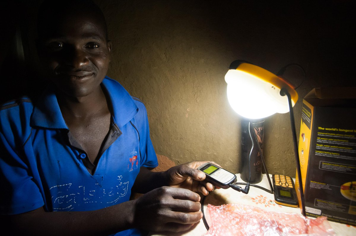 How many light bulbs does it take to change a man? Just one. #Solar #Africa #BrighterFuture http://t.co/JjGhwH0MlF