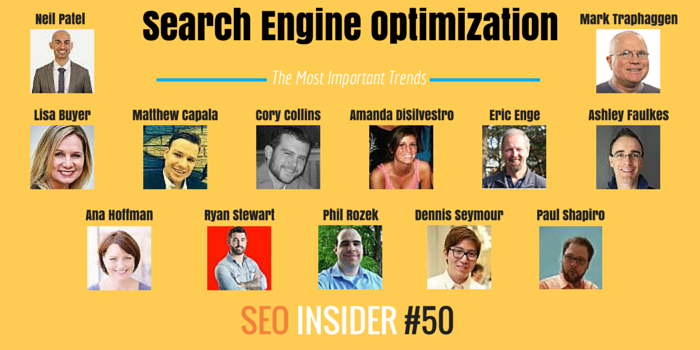 Your SEO Insider No. 50 - Most Important Trends in SEO [Survey] - http://t.co/xBN2d4UlL2 http://t.co/azXCuQkcrt