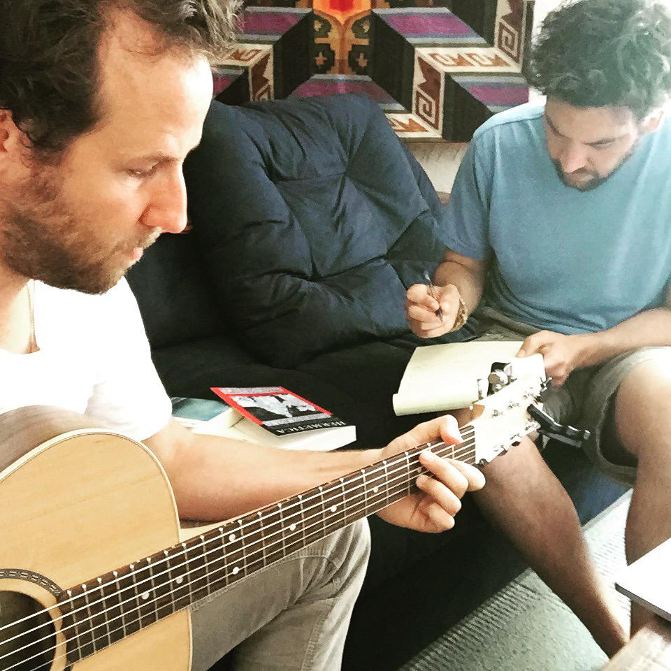 Writing songs with @JoshRadnor http://t.co/kVLz1f2SBS