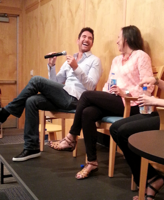 Emily Mann & @DylanMcDermott share a laugh just before Dylan shows of his New Orleans drawl for @mccarter's Baby Doll http://t.co/yRudU8EoZZ