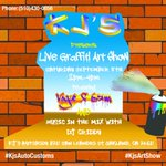 This Sat Sep 5th 2pm @kjsautocustoms celebrates 25 years w/ #Music #GraffitiShow & #GoodEats https://t.co/tT7hBGGoYC http://t.co/PlSyU0e8h4