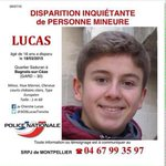 . @MidiLibreNimes merci de soutenir @SOSLucasTronche en diffusant l avis de recherche de Lucas http://t.co/zoh1nl8JGJ
