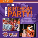 Its time to party! Join us for the Tiger Cubs birthday party this Saturday. Details:http://t.co/NyFk8Akw10 #IPTAY http://t.co/pOupeKLskN