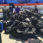 The @ACUFootball Wildcats brought a lot of luggage with them to Fresno! http://t.co/VzAZL5EI0m