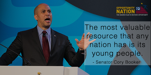 """The most valuable resource a nation has is its young people."" - @corybooker at #OppSummit https://t.co/sy2CplNnIG http://t.co/rp3PYurLVo"