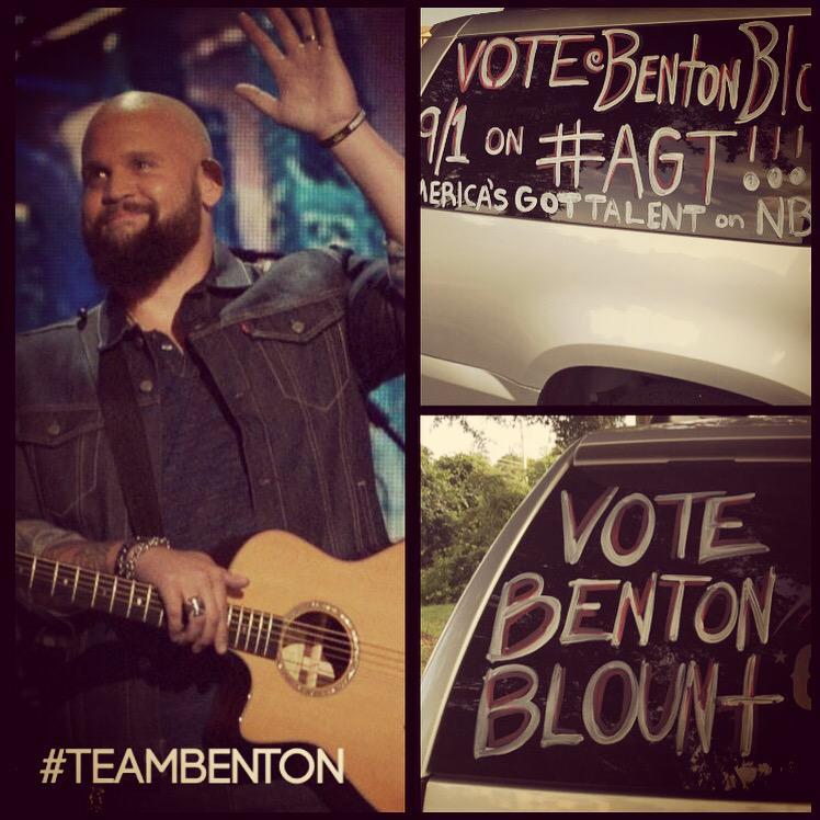 Vote 9/1 on #agt for Benton Blount!!! http://t.co/KjHbtSEPb3