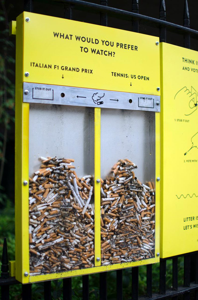 These anti-littering installations by @cmmnwrks are pretty ingenious: http://t.co/fvhxRQ8NUK #neatstreets http://t.co/FjFi2VlKCk