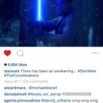 Wait, Finn is holding a lightsaber? He's a Jedi? Oh, and look at the widescreen vid on Instagram! #starwars