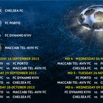 Detail jadwal pertandingan Chelsea di grup G Champions League. #UCL http://t.co/K8aex1wGy4