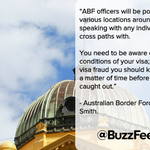 Federal agents will be checking people's visas on the streets of Melbourne this weekend http://t.co/NTCH6wbME0 http://t.co/6DMGyMGJYr