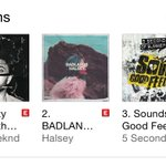 Three albums released tonight and one of them being @halsey - to be 2nd in the top 3 though is an HONOR: #BADLANDS ???? http://t.co/RqHzdeiBSp