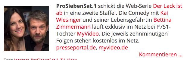 Web Serie Der Lack Ist Ab Von Kai Wiesinger Geht In Die 2 Staffel