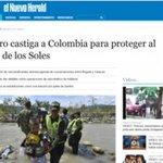 "El Nuevo Herald: ""Maduro castiga a Colombia para proteger a Cartel de los Soles"". http://t.co/wWUuVQQaM9 http://t.co/FKVsh69UlF"
