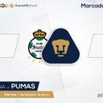 38 @ClubSantos 2-2 #Pumas. #PorTiUniversidad http://t.co/J1IUQ44REh