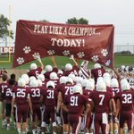 No fancy inflatable for Plano football - just simple decades-old tradition. http://t.co/VOI9D6pwga