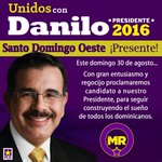 PLD Santo Domingo Oeste ¡Presente! ¡Danilo Medina Presidente 2016! http://t.co/T5wDV62H7l