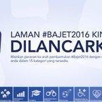 Kerajaan ingin suara rkyt dijadikan asas kpd #Bajet2016. Kemukakan cadangan anda di http://t.co/vy2KRbp84W http://t.co/fnZy9pzrUn