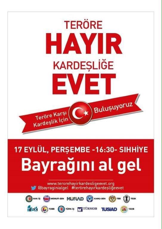 17 Eylül Perşembe günü saat 16.30'da bütün Türkiye'yi Ankara Sıhhiye Meydanı'nda buluşmaya davet ediyoruz. http://t.co/rc5xbUKTCJ