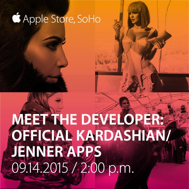 My loves! Today @ 2pm at Apple Store Soho … me & my sisters will be showing our new apps! http://t.co/UmMckHoFtn http://t.co/wjTZ2tMKnb