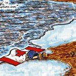 Editorial cartoon, Winnipeg Free Press: Harpers shame and disgrace #SyrianRefugees #cdnpoli #Canada http://t.co/zImOniEcBY