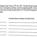 Petition against cycle track downtown #yyc traces back to an employee at Geophysical Service Inc. on 8 ave SW. #cbc http://t.co/F2L3keBXiR