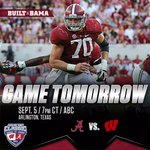 One more day until the 2015 Alabama football season is officially upon us! #RollTide #WISvsBAMA http://t.co/gAduzuqrZd