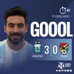 #VamosArgentina ¡Gol de Argentina! @PochoLavezzi queda solo ante el arquero y define sin problemas. http://t.co/IVUOjvfSBJ
