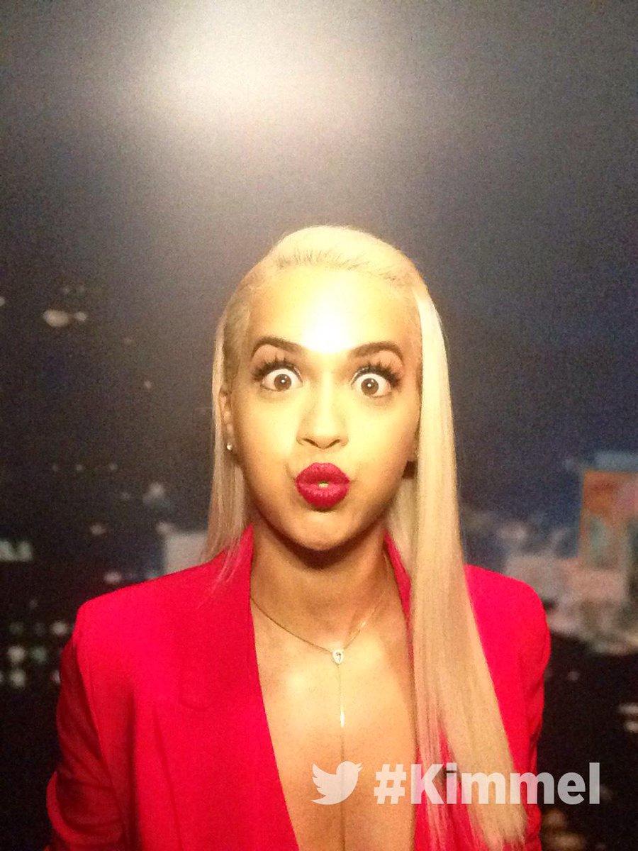 RT @JimmyKimmelLive: Backstage at #Kimmel. NEW show tonight with @RitaOra #BodyOnMe. 11:35|10:35c #ABC http://t.co/LRNHhk2Jf7