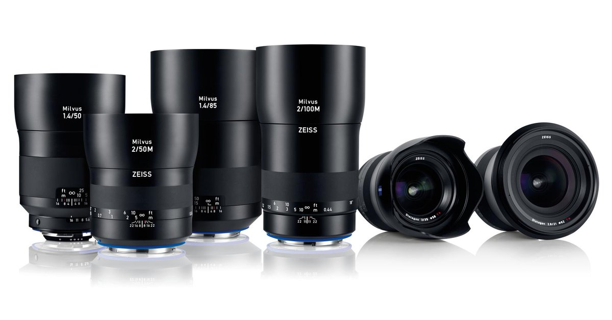 Meet ZEISS Milvus, our new DSLR lens family that will initially consist of 6 focal lengths: http://t.co/pbbm1LOhM2 http://t.co/Hnp0YHEa1m