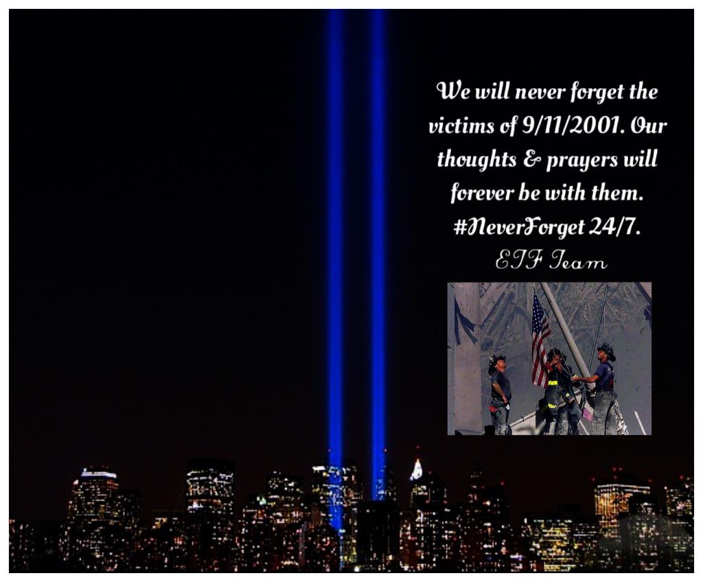 Our ETF team will #NeverForget 9/11/2001. As the sun sets here in NYC, we think of the victims & their families. http://t.co/IOBImLv927