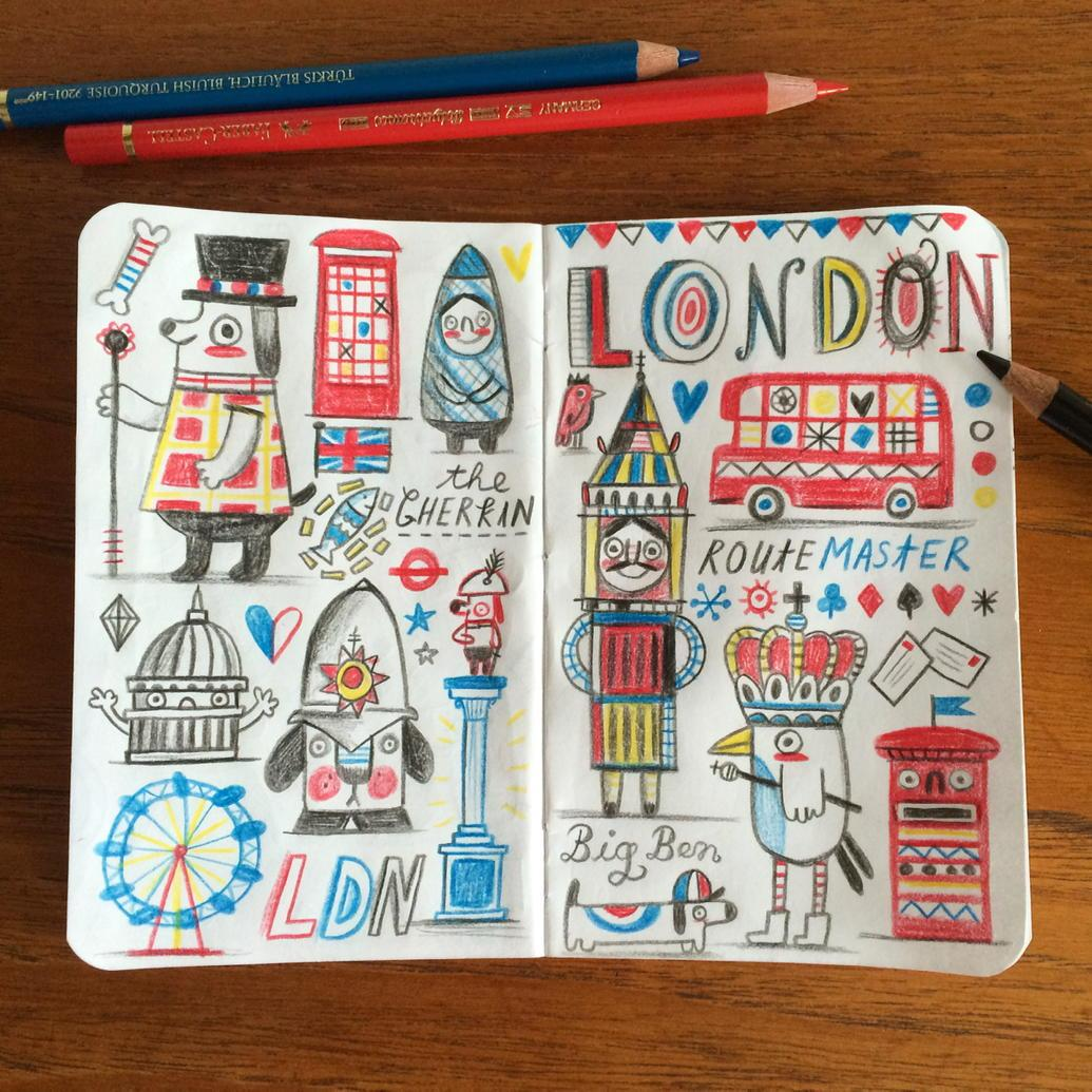 If you've never been to London, this is exactly what it looks like. #doodle #sketchbook http://t.co/sTswwNJbbq