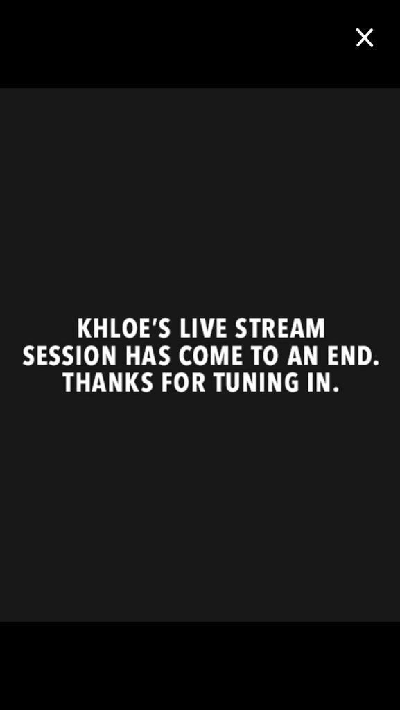 RT @Aussie_Kardash: When @khloekardashian live stream ends .... http://t.co/KBAYmVC51a